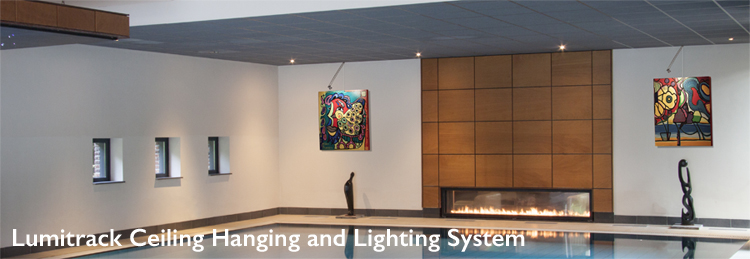 Shades Lumitrack Ceiling Hanging and Lighting System