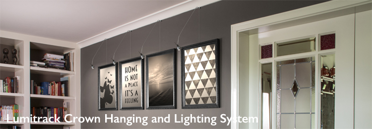 Shades Lumitrack Crown Hanging and Lighting System