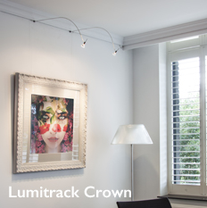 Shades Lumitrack Crown Picture Hanging and Lighting System