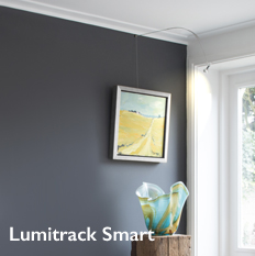 Shades Lumitrack Smart Picture Hanging and Lighting System