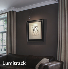 Shades Lumitrack Picture Hanging and Lighting System