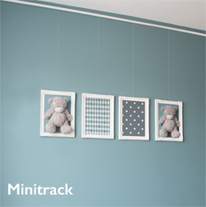 Shades Minitrack Picture Hanging System