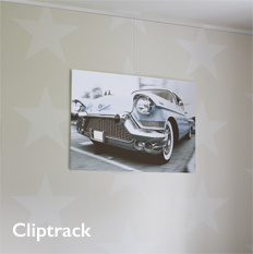 Shades Cliptrack Picture Hanging System